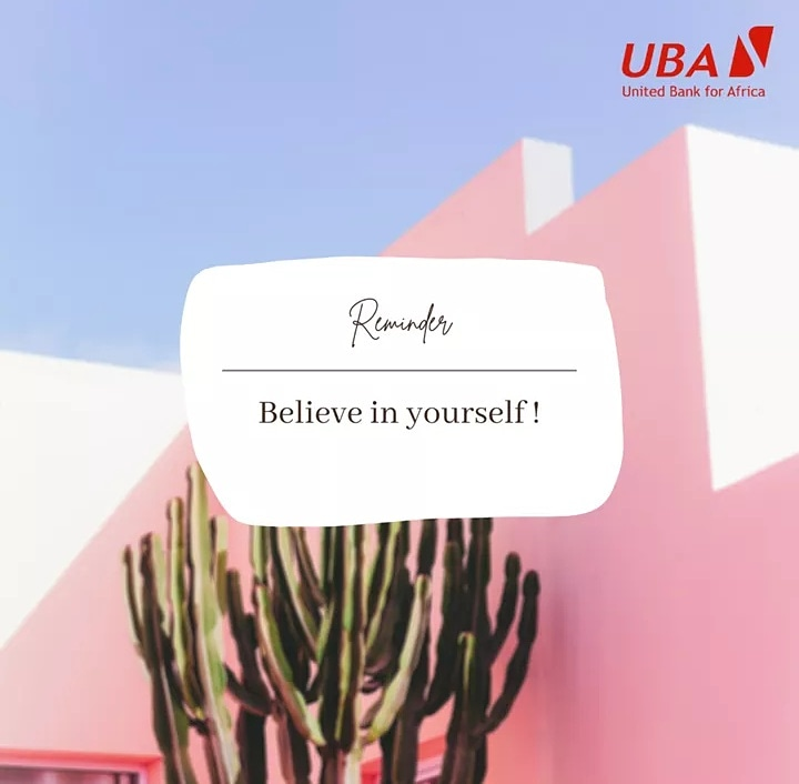 Anything is possible. Believe that you will achieve all your dreams and goals through smart work, determination and dedication. #AfricasGlobalBank #MondayMotivation #UBAZambia