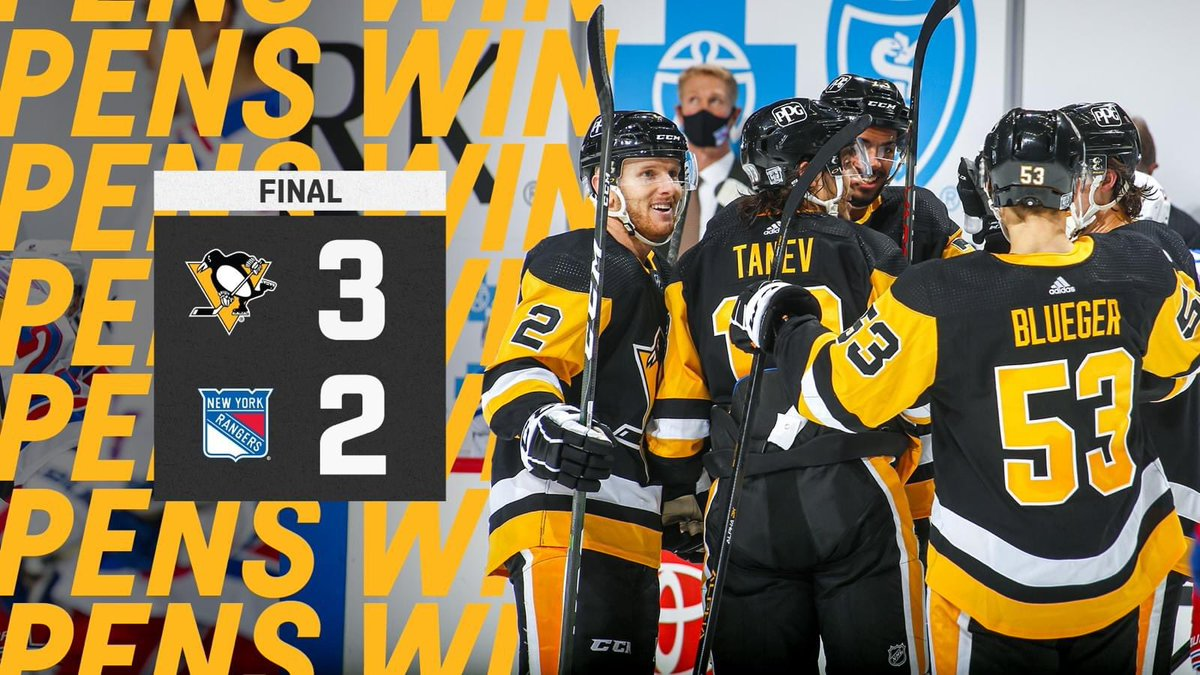 PENS WIN! PENS WIN! PENS WIN!  Another fine comeback by the lads, definitely like doing things the hard way. 4 wins on the bounce at home, let's carry this momentum forwards as we head to @BostonBruinsNHL for 2 huge games.  @penguins  @NHL  #PittsburghPenguins  #LetsGoPens  #Pens