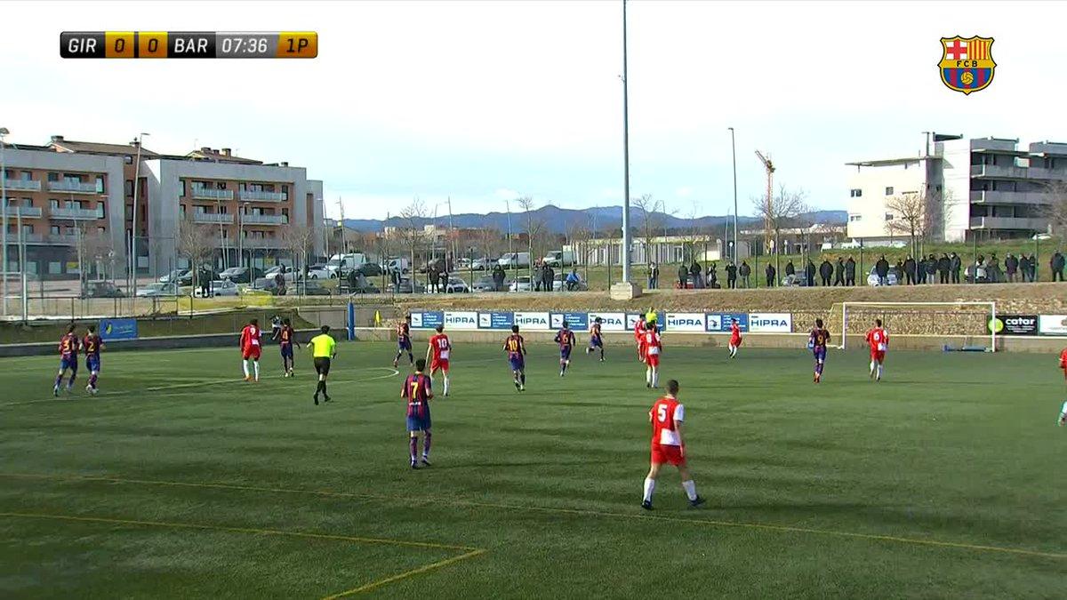 🎥 HIGHLIGHTS   💥 Gran victòria del Juvenil A davant el Girona a domicili (1-2)  💪 Así fue el triunfo del Juvenil A ante el Girona  #ForçaBarça 💙❤️