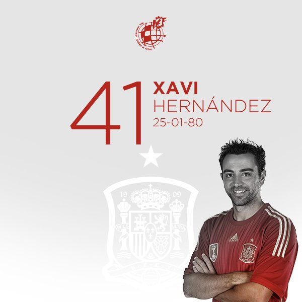🎂 ¡¡Feliz cumpleaños, Xavi Hernández!!  ⭐️ El campeón del Mundo y de Europa con la @SeFutbol cumple 4⃣1⃣ años.   🥳 ¡¡MUCHAS FELICIDADES!!