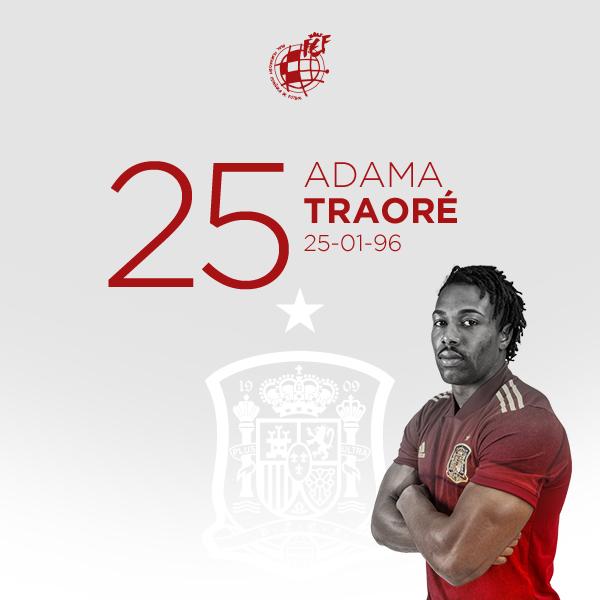 🎂 ¡¡FELIZ CUMPLEAÑOS, @AdamaTrd37!!  💪🏿 El atacante internacional de la @SeFutbol y el @WolvesEspanol cumple 2⃣5⃣ años.  🤗 ¡¡Que pases un día estupendo!!