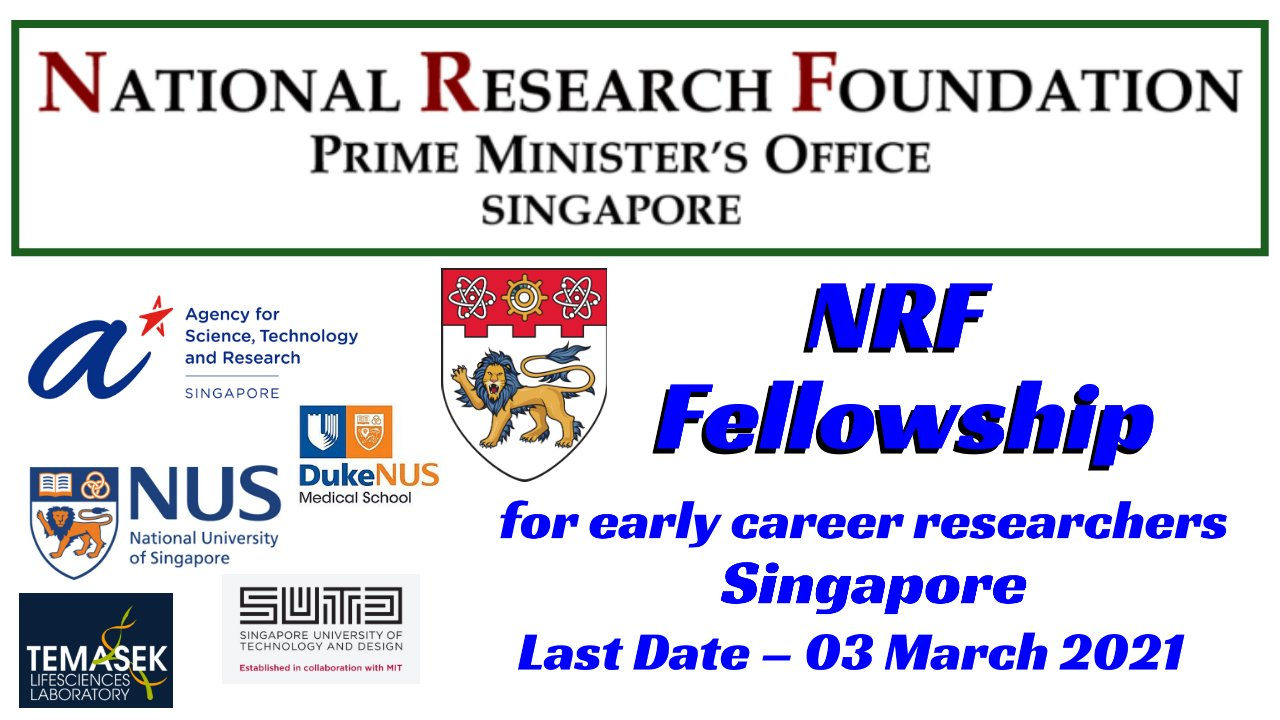 Singapore NRF Fellowship for Early Career International Researchers