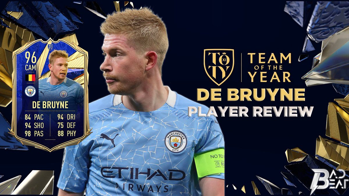 The TOTY @DeBruyneKev player review is live!  🇧🇪😎🔥✅  Channel link is in the BIO!  #fifa21 #fifa #toty #teamoftheyear #kdb #mancity #premierleague #beast #beastmode #belgium #playmaker #legend #kevindebruyne
