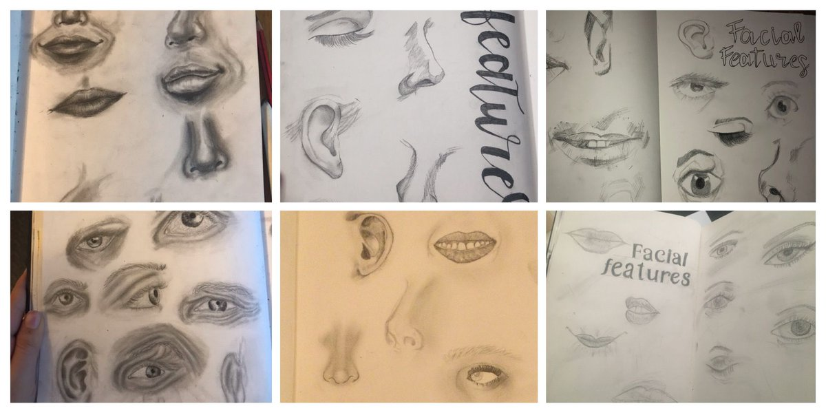 Mr Taylor's Year 10 art group have handed in some lovely work for their lesson on drawing facial features. They have worked so well and it is clear that they have a lot of talent! #proud #PremtomHasTalent #portraits #artists