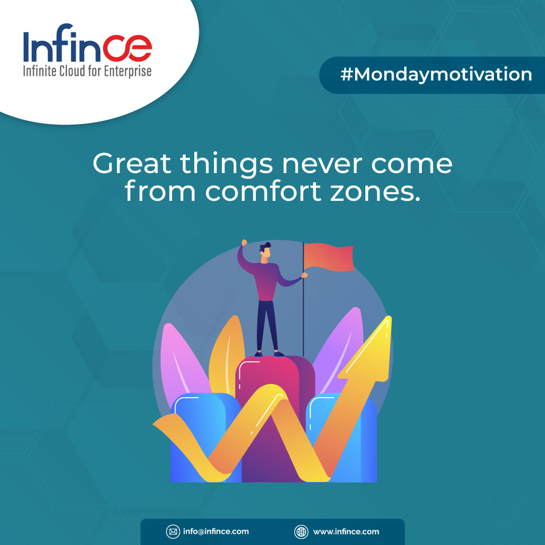 Great things never come from comfort zones.  #motivationalquotes #mondaymotivation #positive #goodthoughts #infince