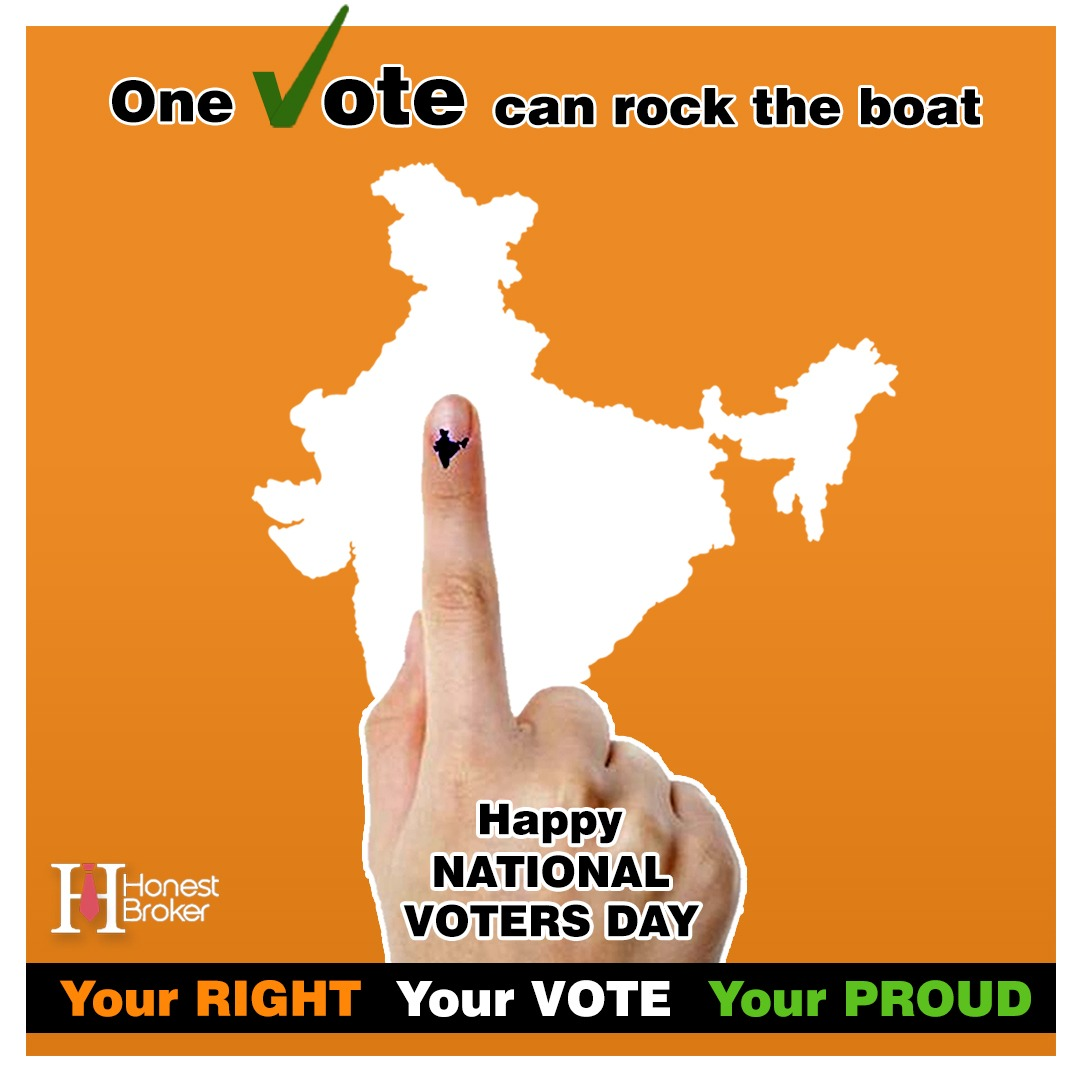 Your one vote can rock the boat. Happy #NationalVotersDay2021 @Honest_Brokers your #RIGHT your #VOTE your #PROUD