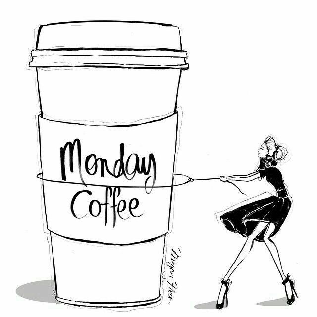 #coffeetime #morningmotivation #meganhess #illustration #designers #MondayVibes