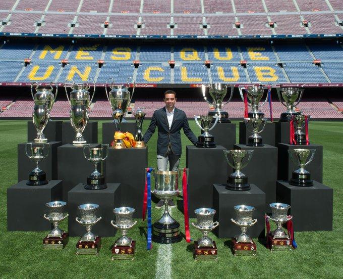 Jugador con más partidos en la historia del Barça ✅  🔵🔴 Xavi Hernández = _______  #UCL | @FCBarcelona_es