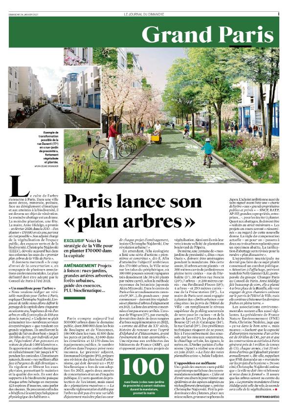 🌳🌷🌼Tu te réveilles un matin, tu as une rue-jardin en bas de chez toi ! @paris lance son plan arbre ⤵️