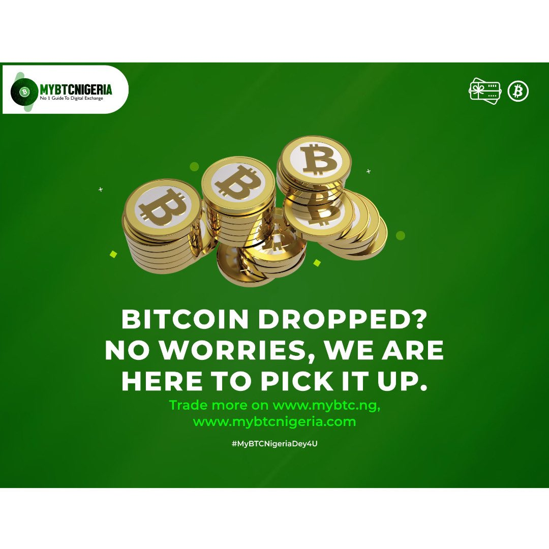 #Bitcoin dropped?  We are here to pick it up.  . .  is actively buying Bitcoin and giftcards 24/7 at the sweetest rates with instant Naira payment right now 💸🔥  Instant trades 💨 Faster Payment 💨 Sweet Rates🍡  247 live trade 💯 247 Live chat