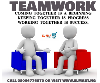 Team Work is the way to go.... @elmart we Sell the best and Original Items call 08066776870 or visit  #Samsung #lg #Nigeria #AbujaTwitterCommunity