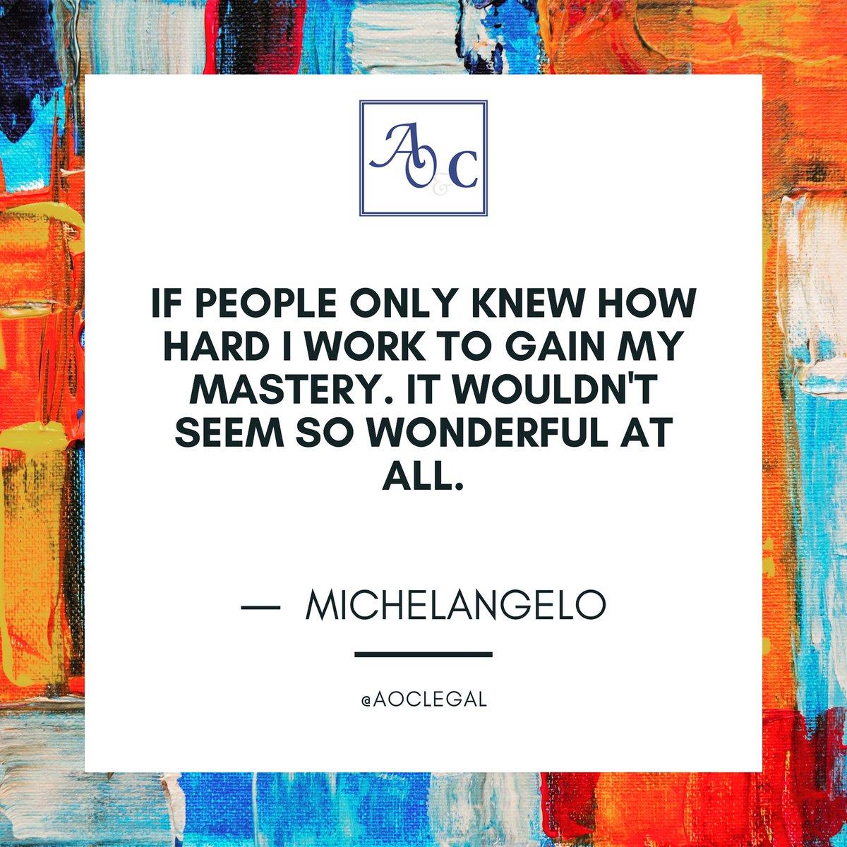 Keep working, gain your mastery.   #mondaymotivation #artlawyers #artlaw #aoclegal #legalnaija