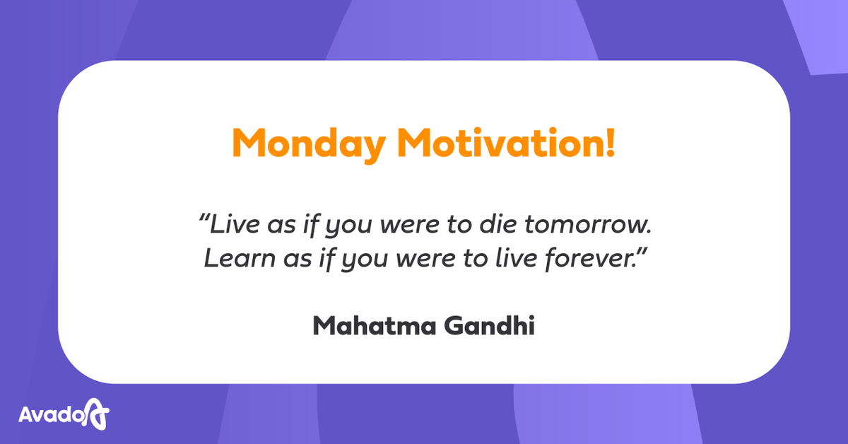 """""""Learn as if you were to live forever."""" We COMPLETELY agree!  Learning will help you gain confidence in your personal and professional life, as well as improve your motivation levels.  Sign up for a learning experience today   #MondayMotivation #OnlineLearn"""