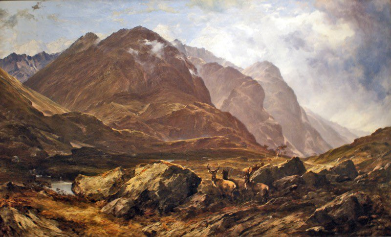 As it's #BurnsNight today's beautiful painting has to be #Scotland  #Glencoe Horatio McCulloch (1805–1867) Oh to be able to take our walking boots into that scene now. #art #hope