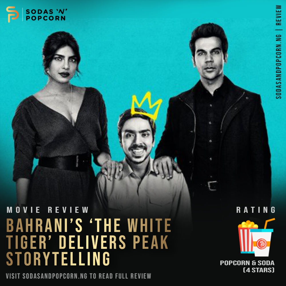Directed and written by Bahrani, The White Tiger is an adaptation of Aravind Adiga's 2008 novel of the same name.  Click the link  to read more.  #Sodasandpopcorn #Movienews #films #feem #Netflix