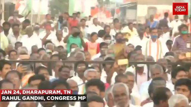 Congress leader #RahulGandni slams RSS. (@mausamii2u)  #ITVideo