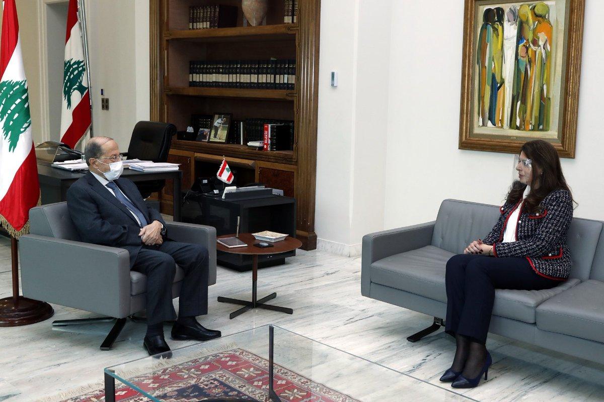 الرئيس عون استقبل وزيرة المهجرين في حكومة تصريف الأعمال السيدة غادة شريم