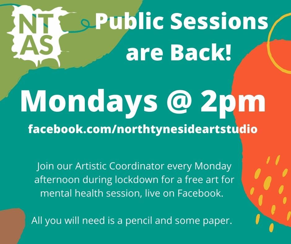 Join us on Facebook Live at 2pm today for a #free #online #art 4 #mentalhealth session.