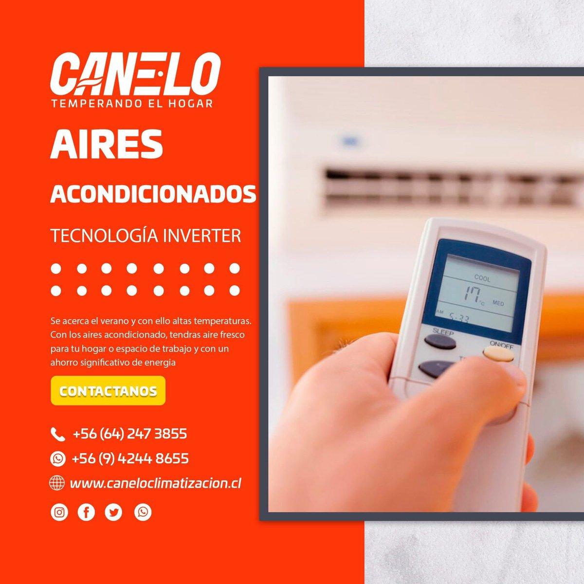 Nuestros equipos de Aire Acondicionado son los más eficientes del mercado. Ya que cuentan con tecnología inverter que te permiten ahorrar energía mientras calefaccionas o resfrescas tus espacios. 👌🏼😉 #Osorno #aire #verano #fresco #limpio