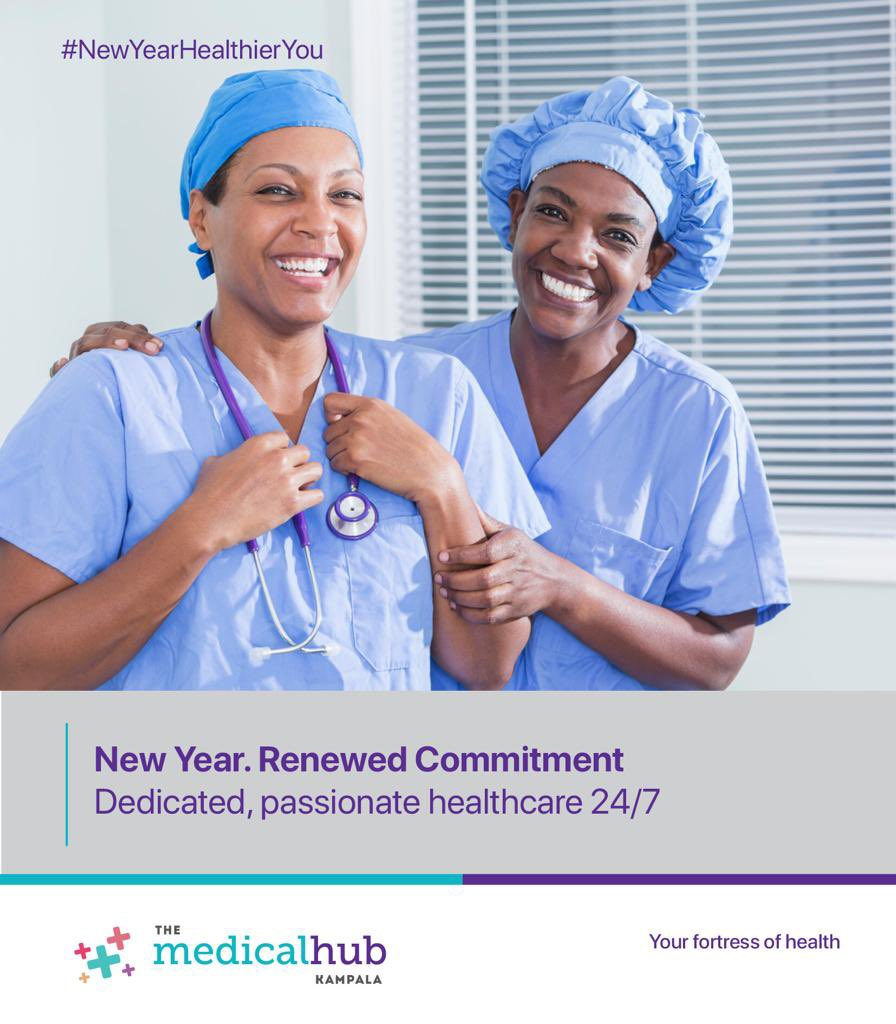 Renew your commitment to your health by choosing the right healthcare provider.  Find us at Plot 35 Yusuf Lule Road.  #TheMedicalHubKla #NewYearHealthierYour #MondayMood #MondayThoughts