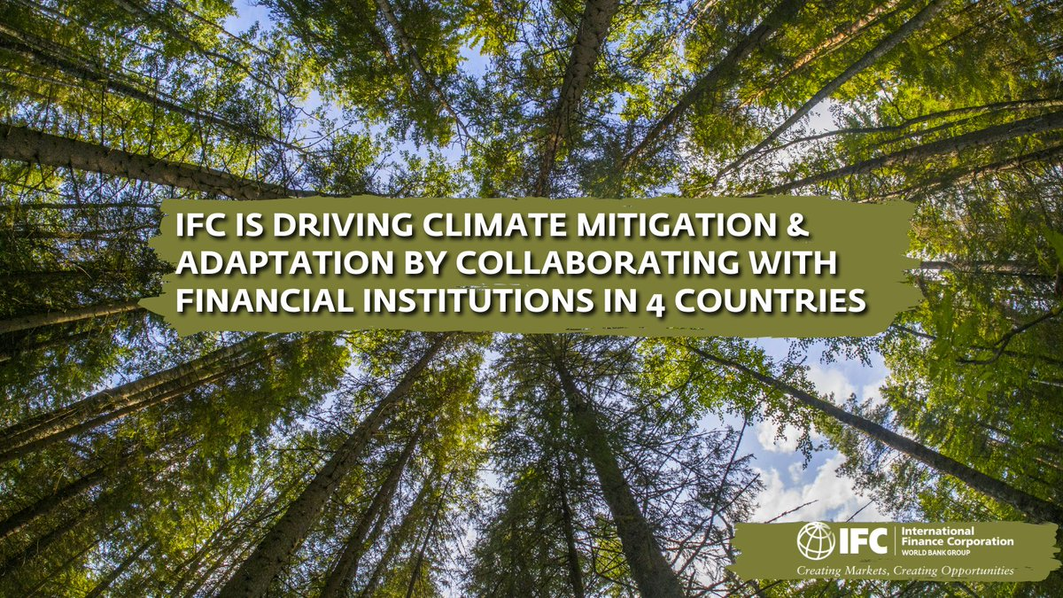 Along w/@WorldBank & @giz_gmbh, we're expediting #ClimateMitigation & #adaptation by collaborating w/ #financialinstitutions in 4 countries.  Find out & share 👉  @iki_bmu #ClimateFinance #ParisAgreement
