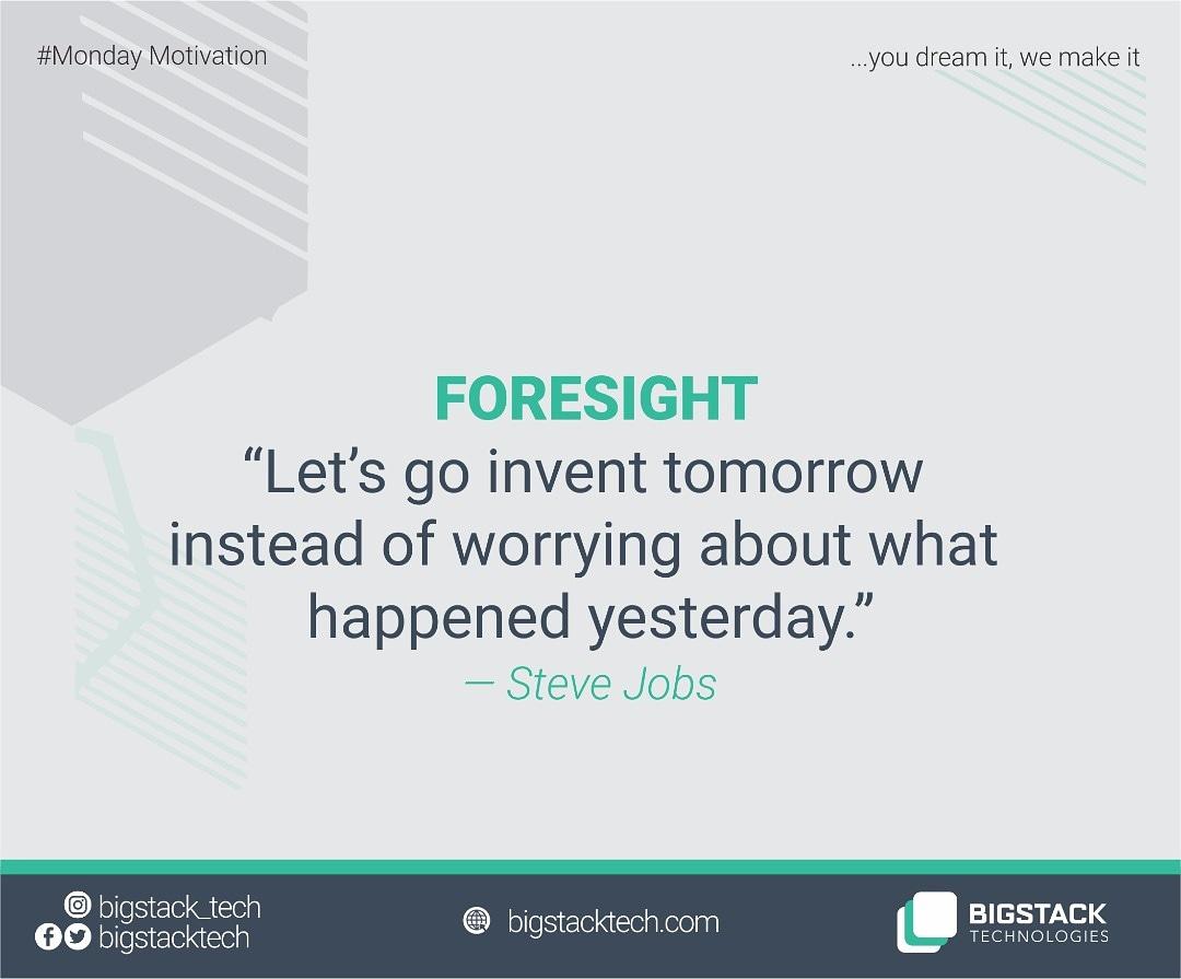 Monday Motivation!  Business Foresight.  #businesstips101 #mondaymotivation #businessowner #technology