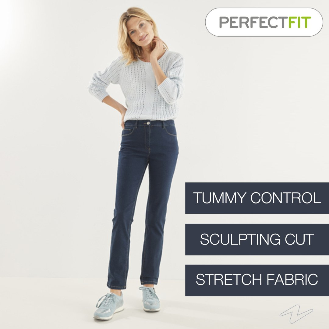 Searching for your dream jeans? Do you want stretch for comfort, an invisible tummy control panel for a smooth silhouette, and a fit that suits all shapes? Youve found it... Perfect Fit. Find your Dream Denim: bit.ly/3iyTvlC