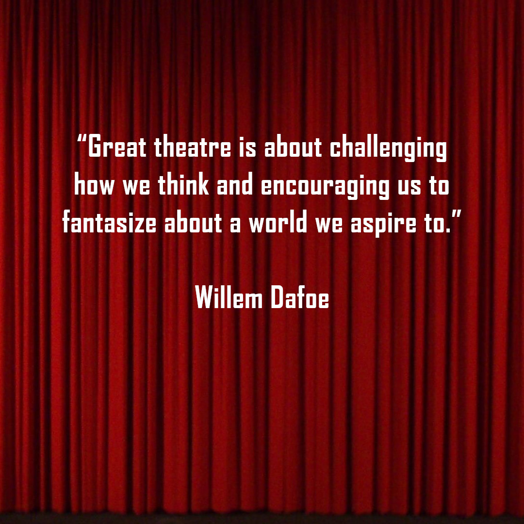 Happy Motivational Monday everyone! This week we thought we'd share a quote from actor Willem Dafoe. Do you have any inspiring quotes about theatre and the performing arts? Why not share them in the comments!  #motivationalmonday #quote #performingarts #tccperformingarts