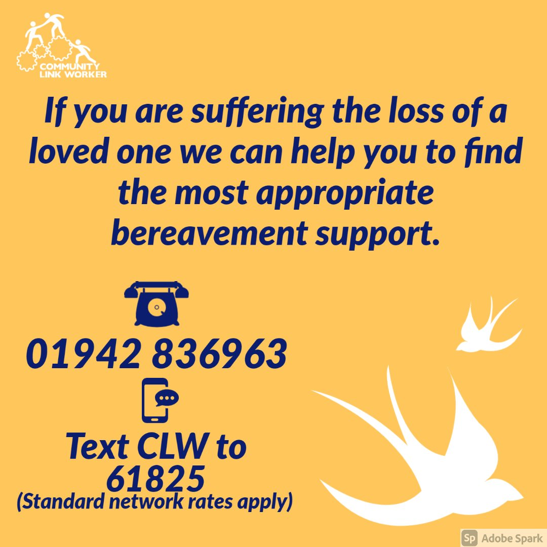 If you want to talk to someone following a bereavement, we're here help find the right support you need, when you need it.   #wigan #leigh #bereavement #support #monday