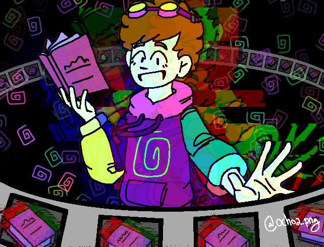 tw // eyestrain (un-glitched version in comments)  I've actually been working on this on and off for a little bit so it's cool to see it fits with the new lore :D  #TALESFROMTHESMP #TalesFromTheSMPArt #karljacobs #karljacobsfanart