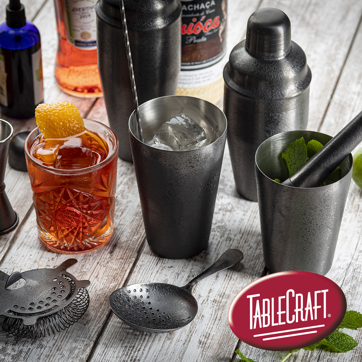 Coming Soon: NEW Premium Barware Collection. In this unique black acid etch finish, it upgrades any bar service with the modern look of matte black.  #ComingSoon #EtchBlackFinish #PremiumBarCollection #BarCollection #BarTools #ProBarTools