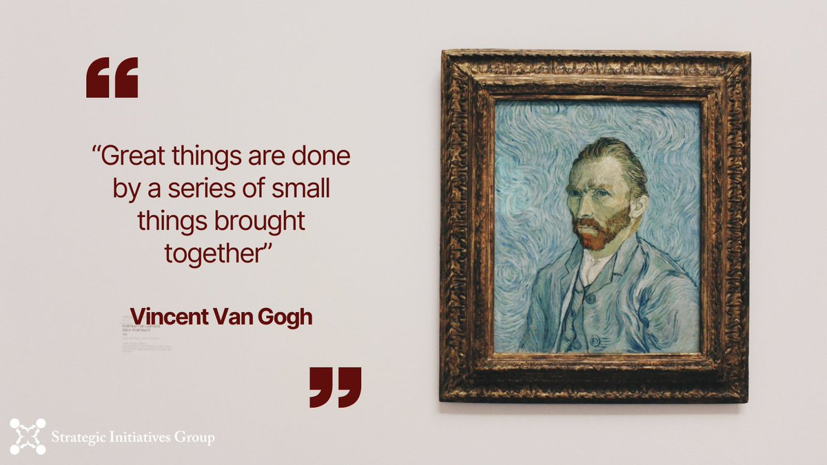 """""""Great things are done by a series of small things brought together"""" – Vincent Van Gogh  #2021goals #2021planning #businesscoaching #leadershipexcellence #quote #vangogh #motivation #business"""