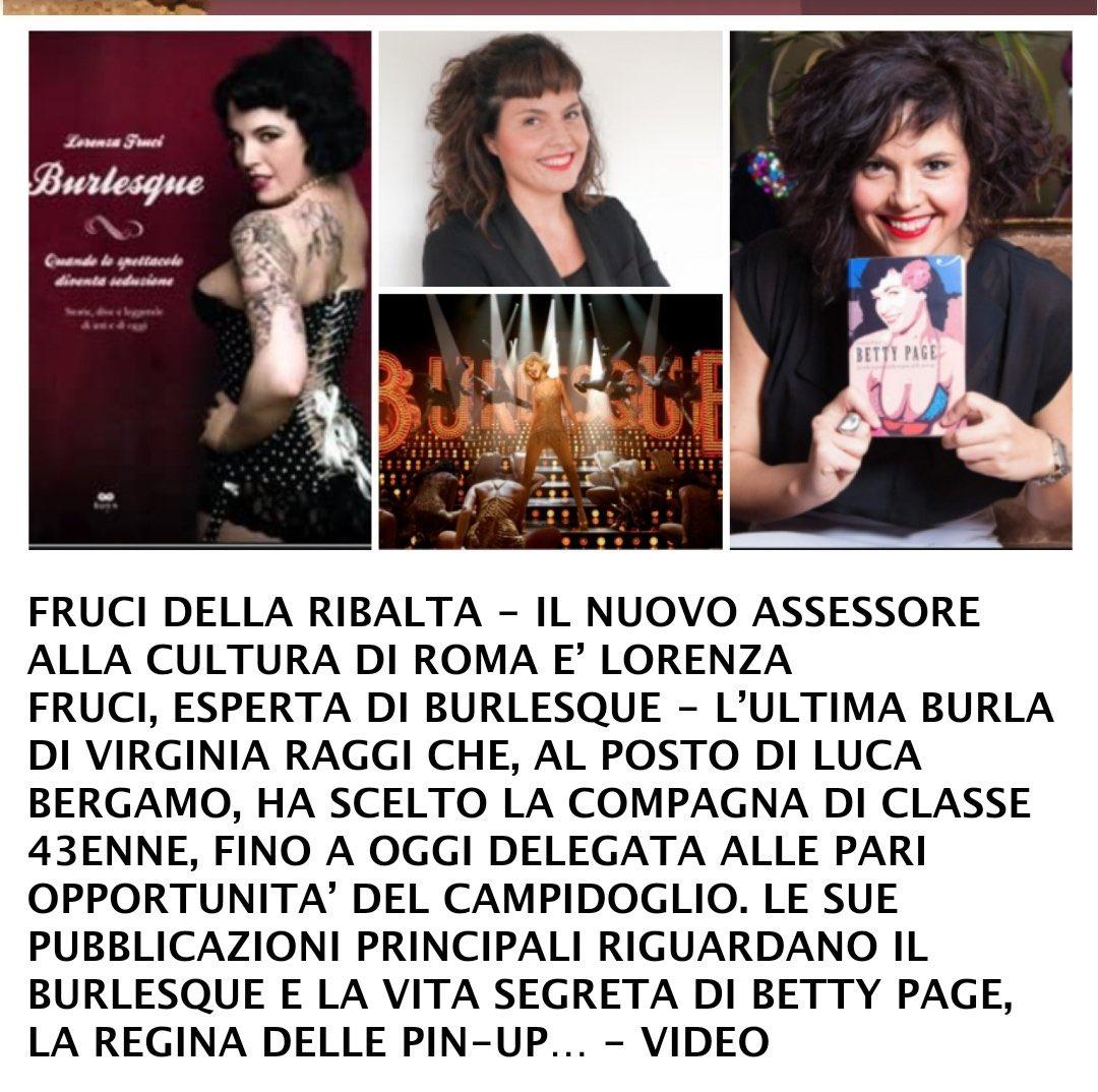 L'Assessorato alla #Cultura di #Roma, Capitale d'#Italia, culla della civiltà, viene affidato ad una compagna di classe della #Raggi che, badate bene, nel curriculum, come massima esperienza, ha la pubblicazione di libri sul #burlesque. SCHIFO (per fortuna manca poco!) #Roma2021