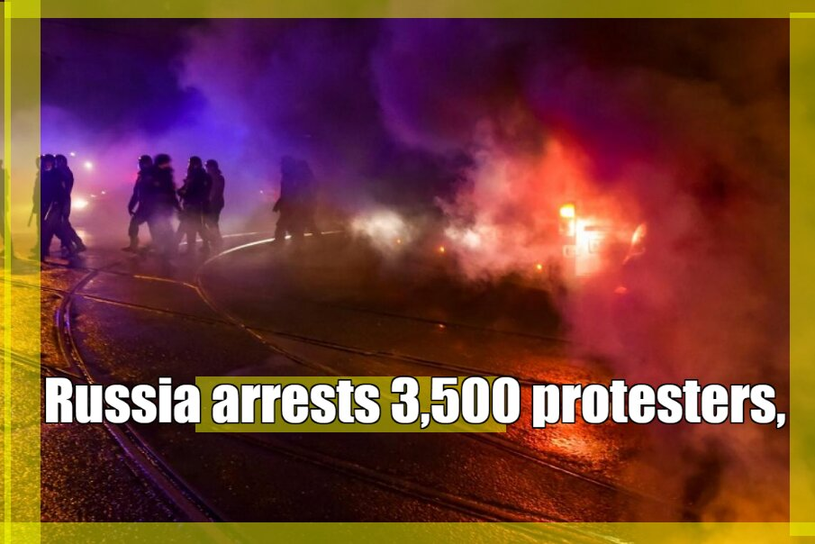 world news today: Russia arrests 3,500 protesters, accuses the US of meddling  #StudentsKoInsafDo #MujheBhiGinLo #technoatebacon #BOBBY_UMad_OutNow #TALESFROMTHESMP