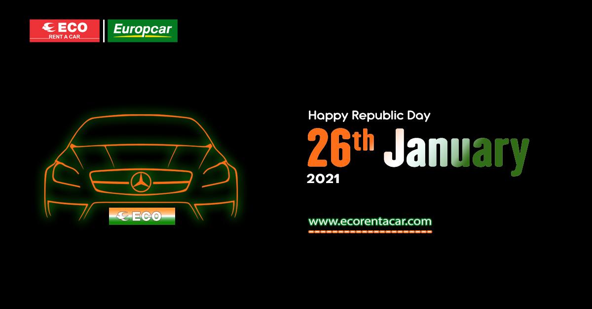 ECO Wishes You A Very Happy Republic Day 2021.  #republicday #celebration #happyrepublicday #travel #tourism #luxurycars #importedvans #luxurywheels #luxuryevents #roadtrip #holidays #tourism #transportation #festiveseason #offers #ecorentacar