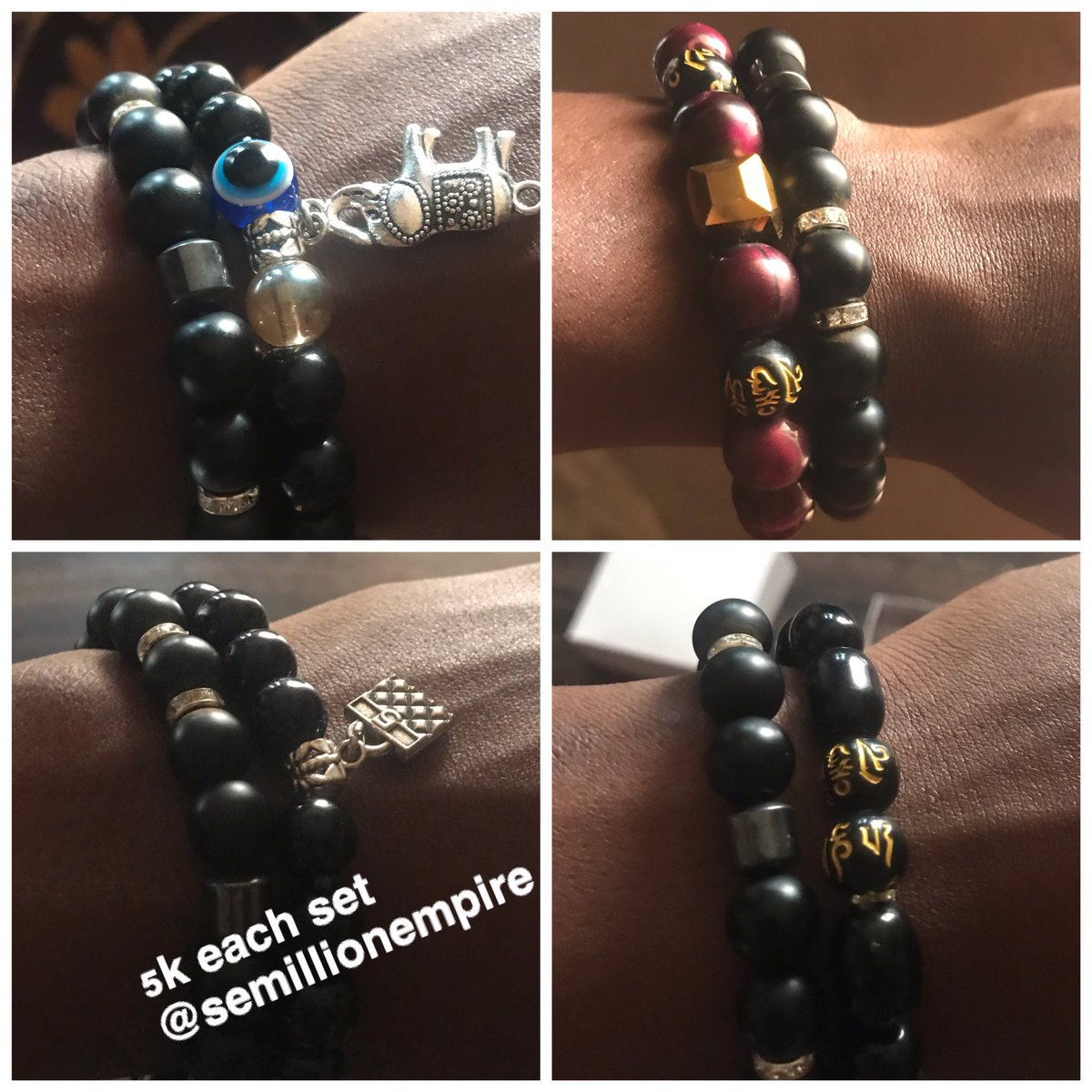 Shop these beautiful and classy stuffs on @SemillionEmpire for your love ones this valentines!  WhatsApp:  Location: Abuja   Durags ✅ Bracelets ✅ Pink lips balm ✅  Check the pictures for price tags   Delivery nationwide 👍