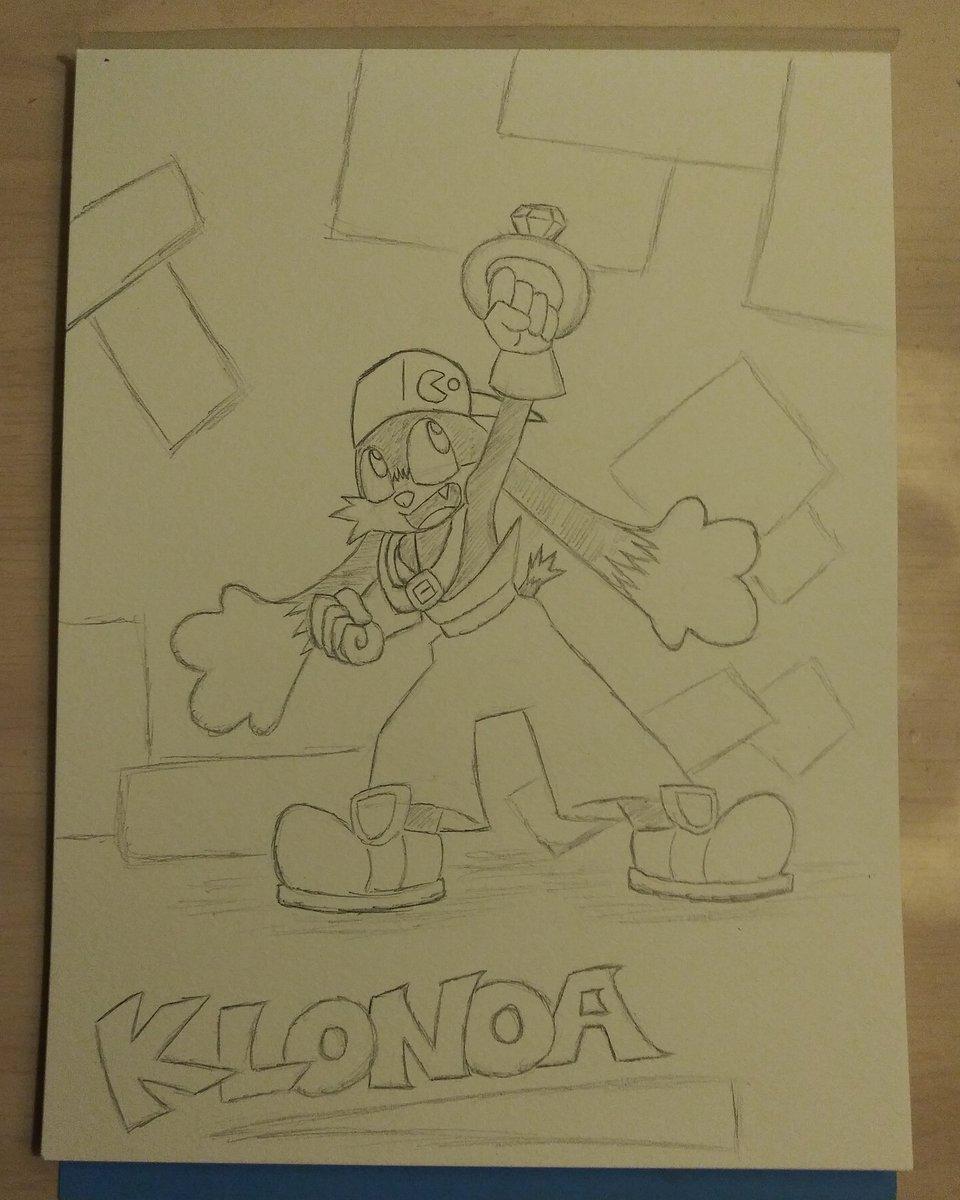 I had to do it...I had to draw Klonoa. The adorable...uh....rabbit? Cat? Cat-rabbit? Cat with long ears? Either way, here he is, the Dream Traveler himself! Now to ink up! #klonoa #rabbit #cat #videogame #fanart #klonoafanart #namco #klonoadoortophantomile #klonoa2lunateasveil