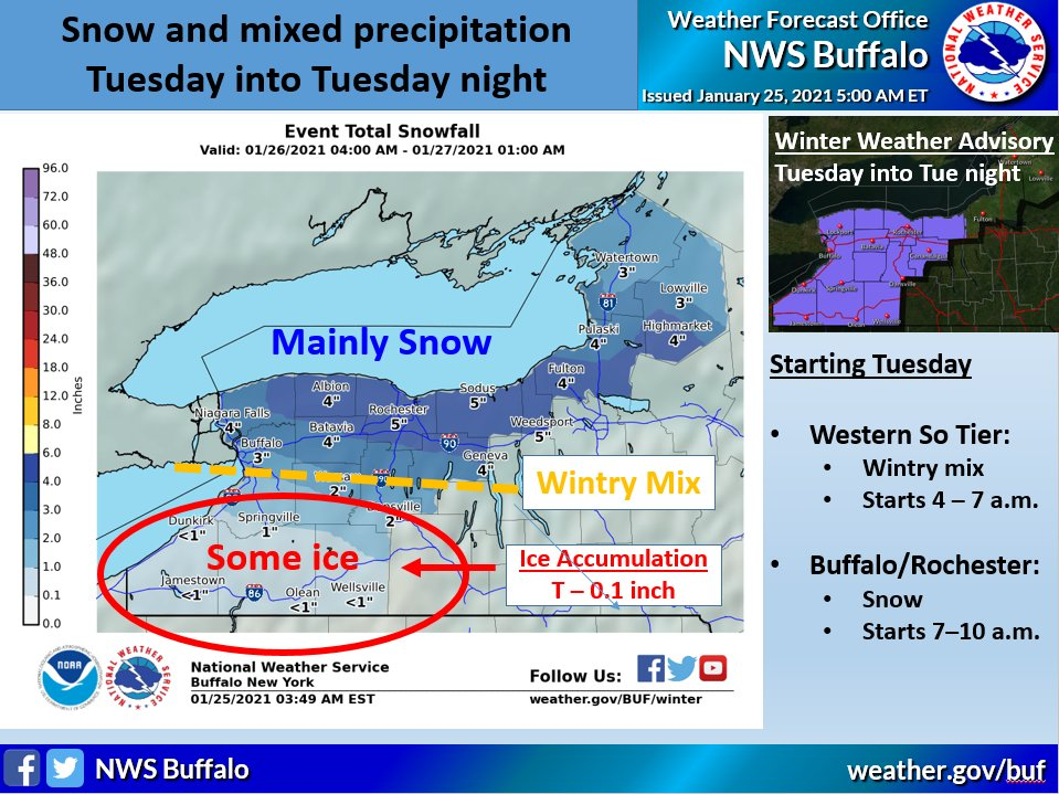Winter weather coming to the Finger Lakes: Measurable snowfall expected Tuesday