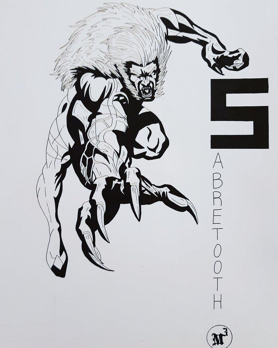 Marvel Alphabet Serie: Sabretooth  #draw #drawing #dibujo #illustration #art #arte #artista #artist #artwork #fanart #marvel  #alphabet #lettering #sabretooth