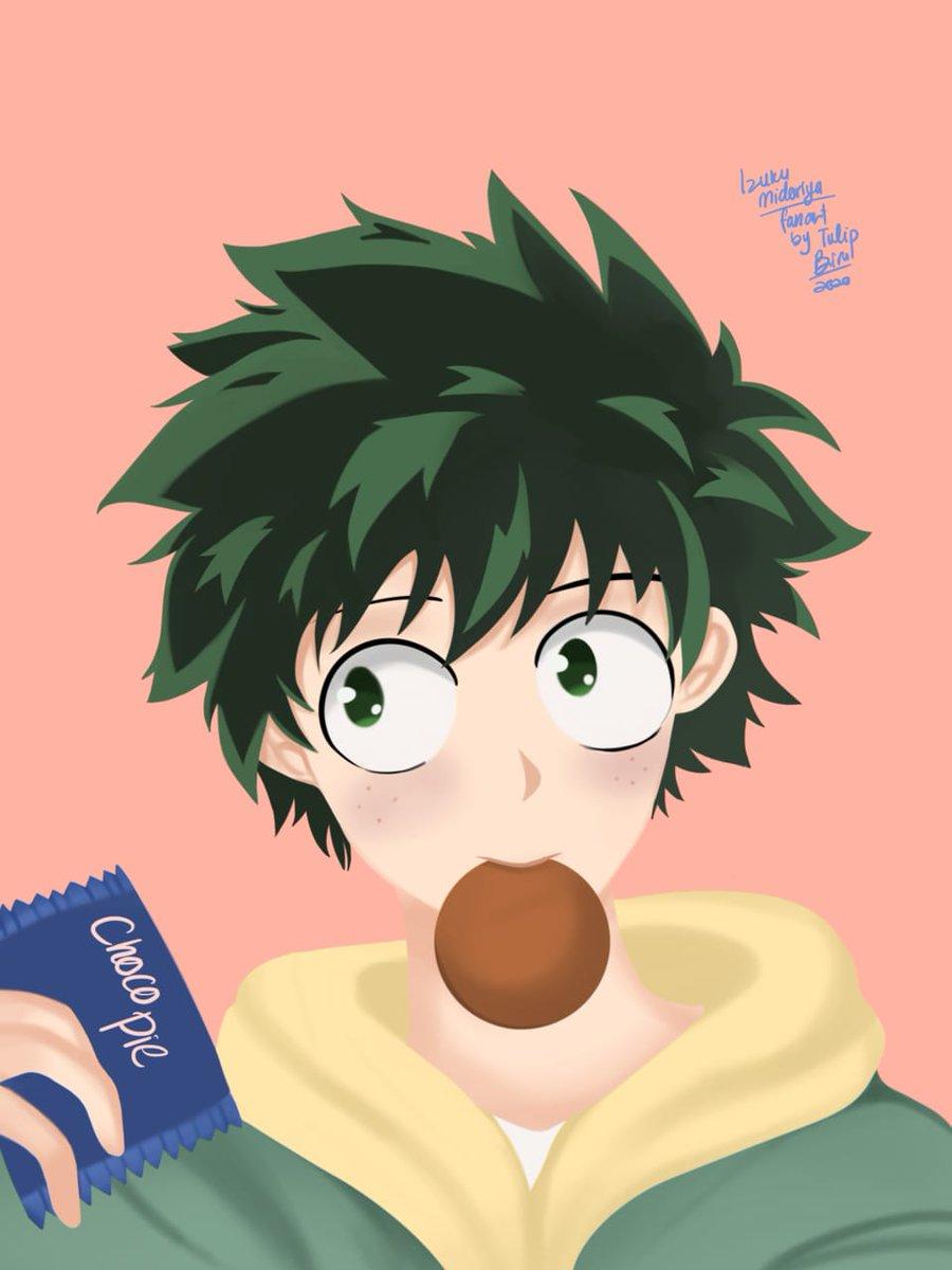 Deku eat choco pie  #ARTstreet #MediBang #fanart #MyHeroAcademia #animeart