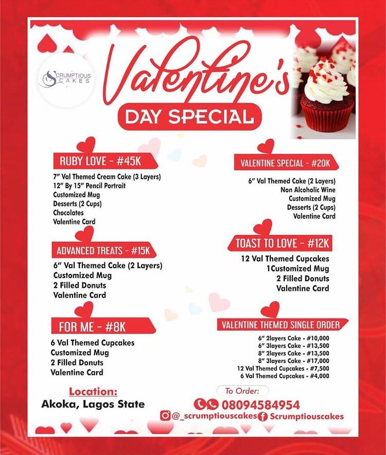 Don't sleep on this Valentine deals fam.  There's a deal for everyone.  Kindly check us out on IG by clicking on the link     #valentinedealsinlagos #mondaythoughts #PIBPublicHearing #success #SuccessForKiddrica Lampard Thyme Amen #Digitalbislab