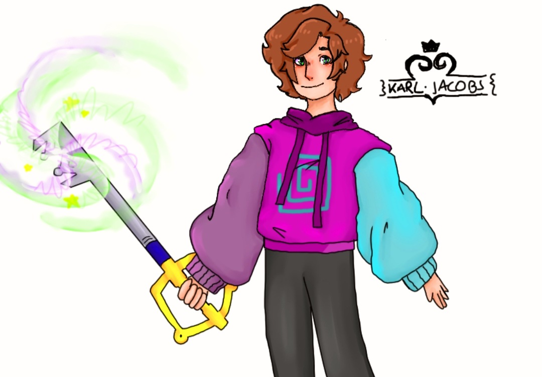 I drew @honkkarl with the key sword :] Bbh's stream was very chill and I enjoyed the Kingdom Heart quotes, they made me happy :DD Who am I kidding, Karl always makes me happy :] #karljacobsfanart #karljacobs #fanart #art  Untag if you reply, I don't want to bother karl qwq