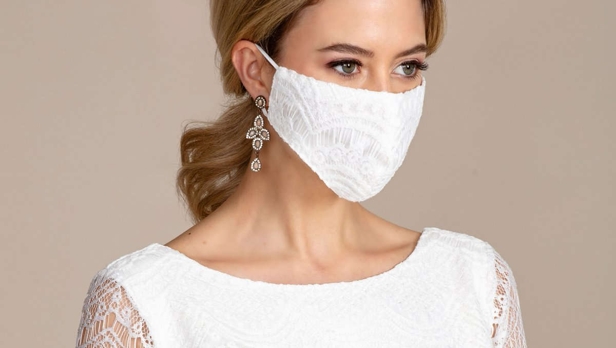 We have got you covered 🥰  Our range of Bridal Face coverings with matching storage pouch, available now.     #facecovering #bridalmask #wedding #bride #pregnantbride #maternitydress