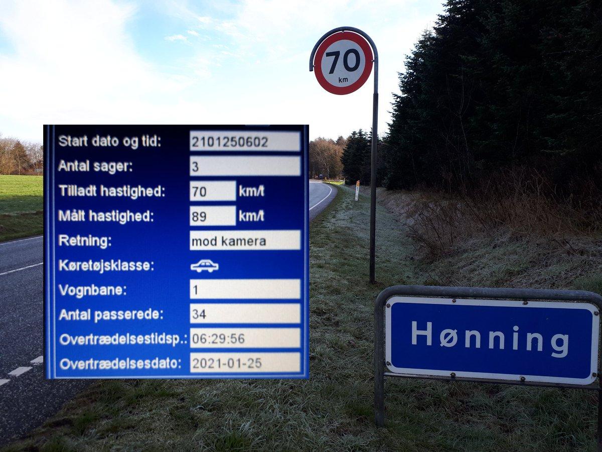 Vi har i denne uge landsdækkende færdselsindsats fra d. 25/1 - 31/1. Fotovognen har været i Hønning mellem Toftlund og Skærbæk. 4 blev blitzet hvor den hurtigste kørte 89 km/t. Sænk nu farten men også tak til alle de andre bilister, der kørte fornuftigt i Hønning #atkdk #politidk https://t.co/ceKiH5gNdy