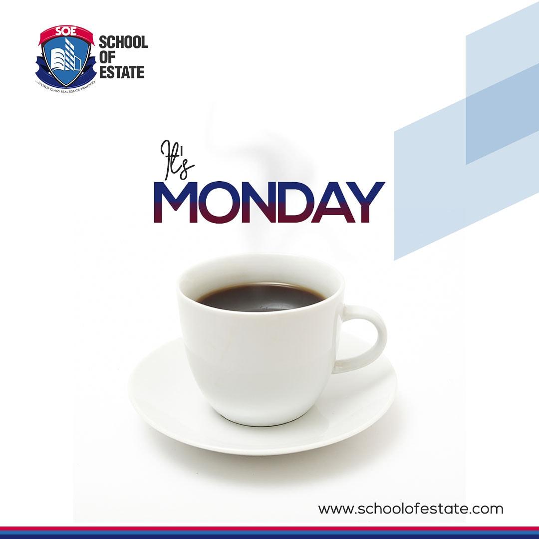 It's Monday; time to smash some goals  Do have a productive week ahead.  #mondayvibes #mondaymotivation #mondaymorning #mondayrush #mondayoclock #mondaythoughts #MondayMorning #teamonday #tea #schoolofestate