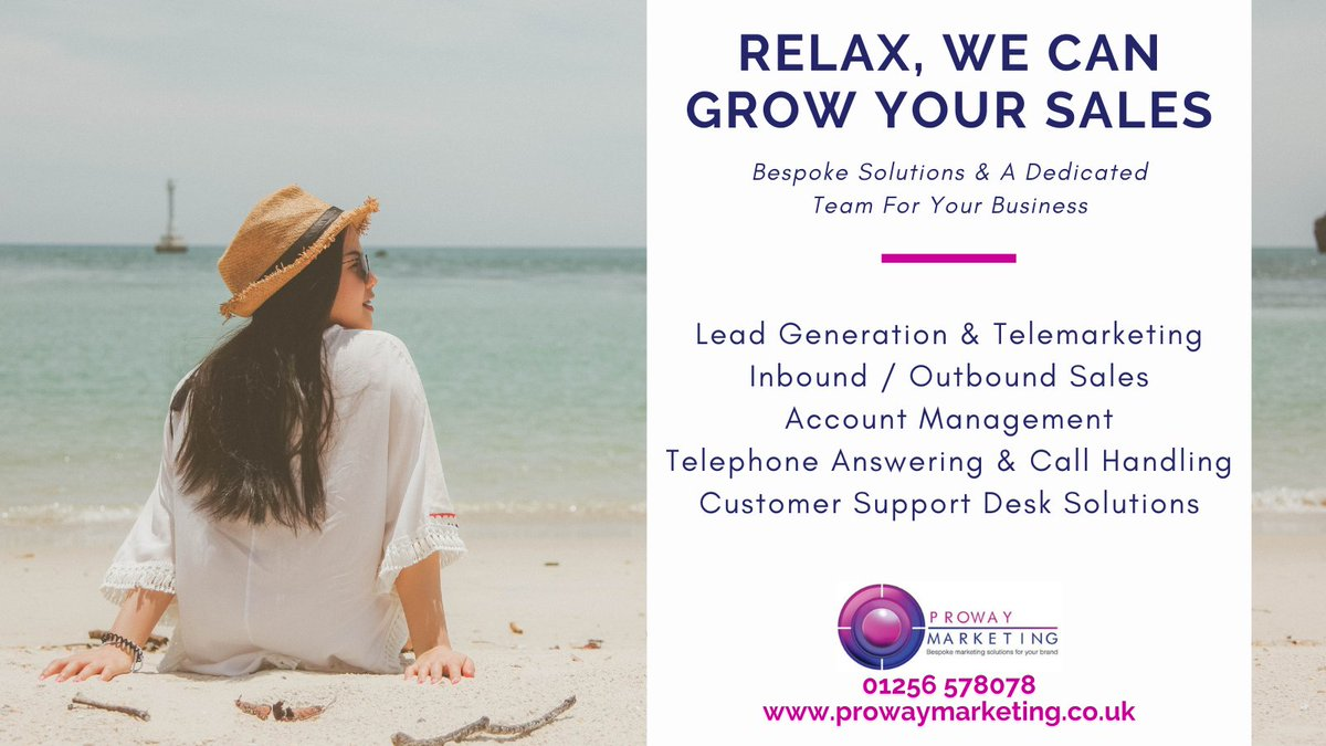 How would you like your own dedicated, flexible, virtual sales team?  @prowaymarketing offer integrated bespoke solutions to drive sales for your business.  Contact 01256 578078 to learn more. #Sales #businessdevelopment #businessgrowth #mondaythoughts #outsourcing #newbusiness