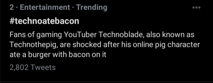 #technoatebacon pffffff