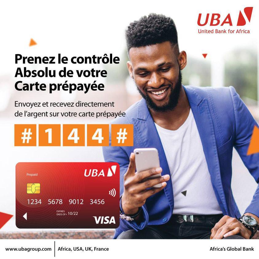 Recharge ta Carte #VISA tranquillement via Orange Money. Rendez-vous dans une de nos agences UBA pour activer le service. #OrangeMoney #RechargeCarte #CarteVisa #AfricasGlobalBank  #UBACDI