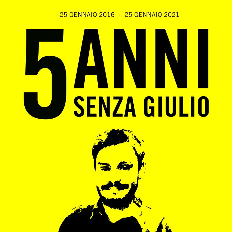 Cinque anni senza #GiulioRegeni. Non smetteremo ma...