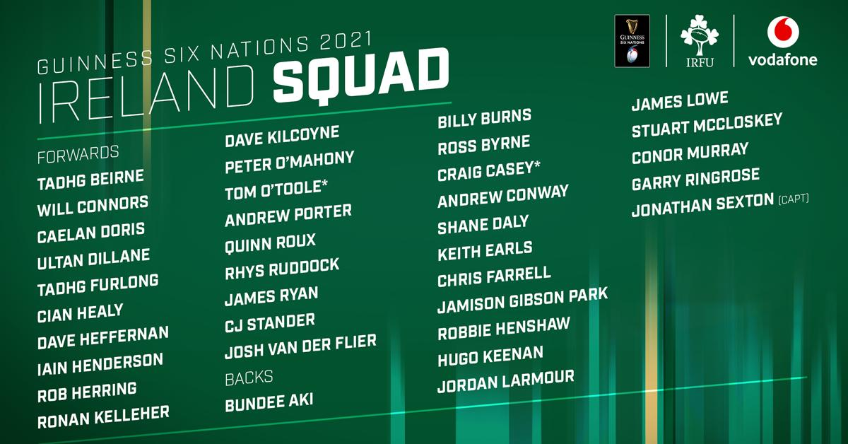 test Twitter Media - Andy Farrell has named Ireland's squad for the upcoming #SixNations ☘️  Great to see Tadhg Furlong back in the fold after a lengthy spell out 💪 https://t.co/xMizMCS9Qk